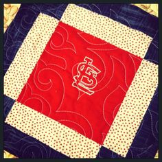 St. Louis Cardinals quilt I made. machine quilting st louis cardinals quilt