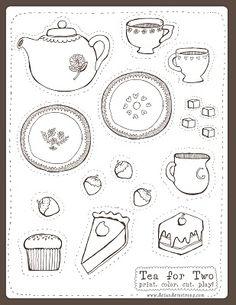 cute little tea set- free download