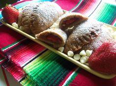 Strawberries and Cream Empanadas with Dulce de Leche
