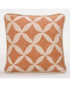 I love the warm rust color on this jute throw pillow.