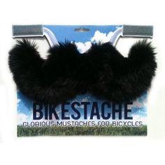 Bikestache Giant Bicycle Mustache Novelty Gag Accessory-Black