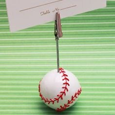 Baseball Photo or Place Card Holder - Bar Mitzvah & Bat Mitzvah Party Favors - Other Occasions - Wedding Favors & Party Supplies - Favors and Flowers
