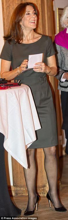 """La princesse Mary en tant que présidente de """" Healthcare Denmark """" les soins de santé au Danemark, a prononcé un discours. 30 Octobre 2014"""