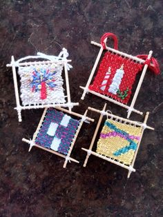 Toothpick tapestries