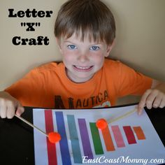 Alphabet Crafts - Letter X {xylophone} craft and free printable printing practice sheet