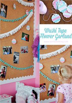 Washi Tape Flower Garland Tutorial