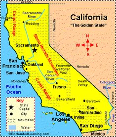 California: Facts, Map and State Symbols - EnchantedLearning.com