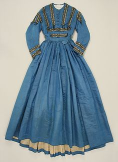 c. 1864 dress, French. Silk.