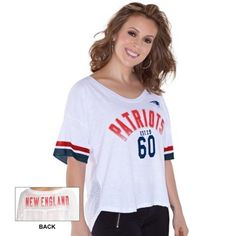 New England Patriots Touch by Alyssa Milano Women's Hadley T-Shirt – White