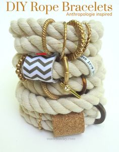 DIY Rope Bracelets (Anthropologie) from Made In A Day