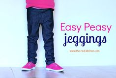 Easy Peasy Jeggings    www.the-red-kitchen.com