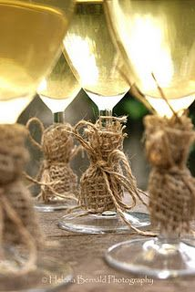 Another way to use burlap and twine... #Country #wedding #ceremony #ideas … Wedding ideas for brides, grooms, parents & planners https://itunes.apple.com/us/app/the-gold-wedding-planner/id498112599?ls=1=8 … plus how to organise an entire wedding, without overspending ♥ The Gold Wedding Planner iPhone #App ♥ http://pinterest.com/groomsandbrides/boards/  for more boards #wedding #ceremony #churches #reception #venues #rustic #western #country #city #beach #bride #bridesmaids #groom #invitations