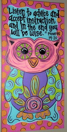 PAINTED OWL CANVAS