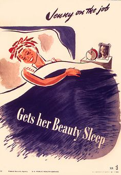 Jenny on the job gets her beauty sleep (1944). #vintage #1940s #WW2 #home_front #war_worker