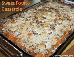 The best Sweet Potato Casserole Recipe