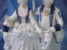 pretty... white gardens, porcelain figurin, moodi blue, white victorian, victorian porcelain, bluewhit fun, blues