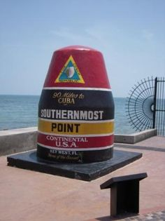 Southernmost Point. A colorful landmark buoy and spectacular sunsets make the southernmost spot in the Continental U.S. a special place to visit.