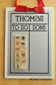 CHORE CHART COMBINATION - Set includes Chore Chart & Mix and Match Magnet Set of 12 on Etsy, $28.00