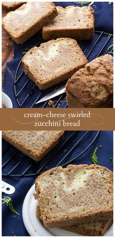 The BEST ever Cream Cheese-Swirled Zucchini Bread