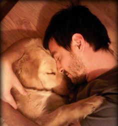 Adorable man and dog, from FB feed.