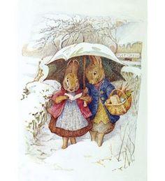 illustrations for children, easter, umbrella, snow, beatrix potter, peter rabbit, cross stitch charts, cross stitches, children book