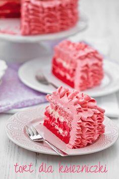 beautiful pink ruffle cake