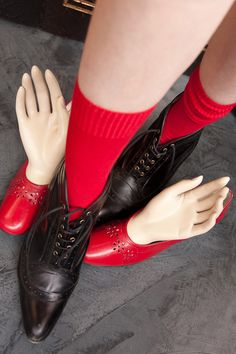The B.ella Bastia are no longer available in red...  we hope that changes!  they were a perfect red cotton sock that I had a lot of fun wearing.
