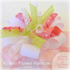Korker Flower Hairbow Tutorial