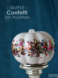 Super easy and fun DIY confetti pumpkin craft