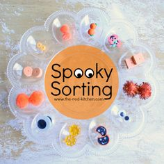 Spooky Sorting -- A Fun & Easy Preschool Activity for Toddlers    www.the-red-kitchen.com
