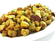 Country Fried Potatoes Made Skinny with Weight Watchers Points | Skinny Kitchen