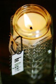 Salt and light candles. Make a candle in a vintage salt or pepper shaker.