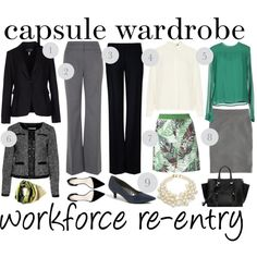 Entering the workforce again after an absence? Kick start your career wardrobe with this capsule.