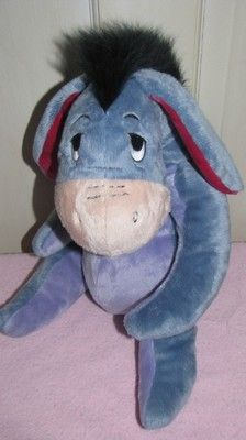 "Disney Plush 12"" Soft & Cuddly Eeyore From Winnie The Pooh Works Collectible"