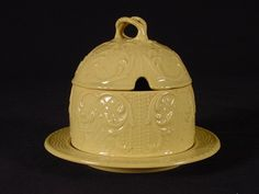 RARE Early 1800s Two Piece Honey Pot Spode Yellow Ware | eBay