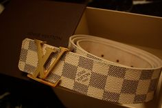 Milk Chocolate Louis Vuitton Belt #Louis #Vuitton #Belt
