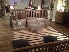 oak bed, bed frames