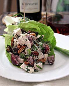 Cherry, Pecan & Tarragon Chicken Salad (No Mayo) from The Urban Poser.