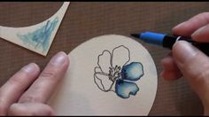 card making video: Gratitude Flower - How to Blend with Stampin' Up! Markers ... also shows how to use a framelits die to make a shaped card with mat edges ...