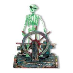 Amazon.com: Action Air® Pirate Skeleton-at-the-Wheel Live-Action Aerating Aquarium Ornament: Pet Supplies