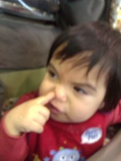 picking my nose!
