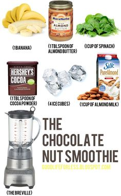 Chocolate nut smoothie
