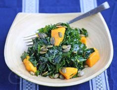 Massaged Kale and Mango Salad Recipe - Jeanette's Healthy Living