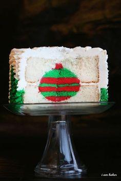Christmas Ornament Surprise Cake | #christmas #xmas #holiday #food #desserts