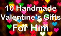 10 Handmade Valentine's Gifts for Him - DIY Ipad case & martini on the go!!!
