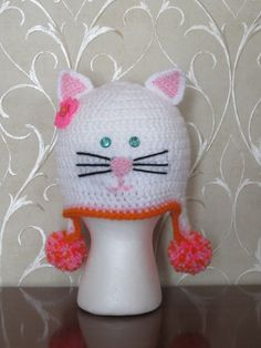 KITTY CAT HAT. Cute Cat Hat for Cat Lover. by Bluetulipgifts, $19.99