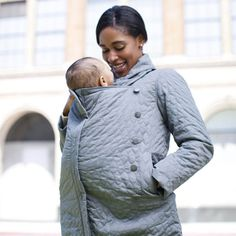 ergobaby Lightweight Papoose Coat in Grey