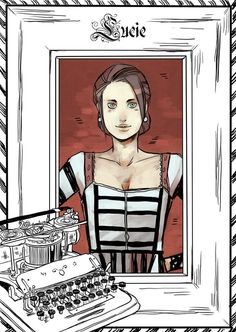 Lucie Herondale - released on Cassandra Clare's Tumblr - drawn by Cassandra Jean