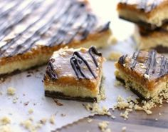 mmmmm...no bake caramel deLites (I mean Samoas)