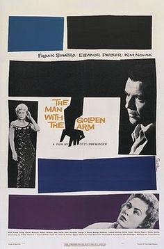 Saul Bass poster for The Man With the Golden Arm